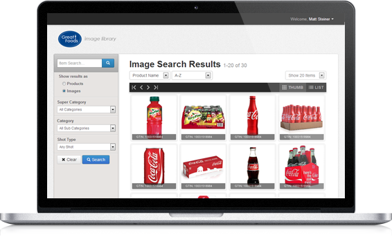 Preview of the FoodService Images GS1 Image Management and Marketing Data Solution